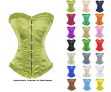 Heavy Duty 26 Double Steel Boned Waist Training Satin Overbust Corset 8016-NR-OT