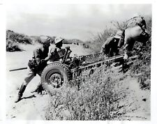 1941 Vintage Photo WW2 US Army First Cavalry move anti-tank gun at Fort Bliss TX