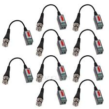 New 10 Pcs CCTV Camera Passive Video Balun BNC Connector Coaxial Cable Adapter
