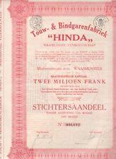 HINDA touw en bindgarenfabriek WAASMUNSTER