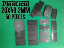 40x20mm 20x40mm plastic 2mm miniature bases Warhammer BUY 2 PACKS GET 1 FREE