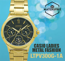 Casio Ladies' Standard Analog Watch LTPV300G-1A LTP-V300G-1A