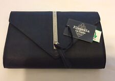 EMPERIA LOS ANGELES Women's Navy Leather Purse / Clutch NWT