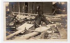 FLOOD DEVASTATION, COLUMBUS March 1913: Ohio USA postcard (C18068)