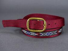 "Triple B Navajo-Style Maroon Nylon Braided Western Belt Size 38"" x 1"""