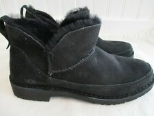 UGG Australia Melrose Ankle Booties Black Suede Boots Size 9 1103807 Brand NEW!