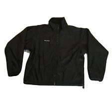 Columbia Mens Sz M Black Jacket fleece lined