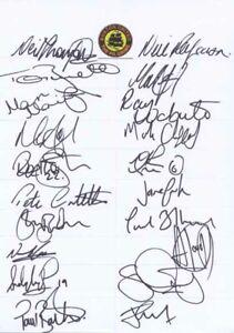 Boston United FC - Signed Team Sheet - COA (14923)