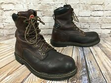 RED WING Irish Setter 83803 Brown Leather Work Boots Men's 8 EE Wide