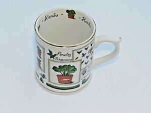 Marks & Spencer Herbs Motif Coffee Mug Excellent Condition NEW Gift Present