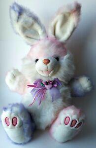 Vintage Dan Dee Collectors Choice Bunny Easter Plush Pink Purple Hoppy Hopster