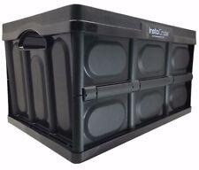InstaCrate Collapsible 12 Gallon Storage Bin Space Saving Design Durable - Black