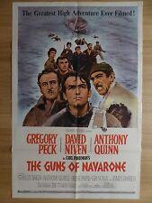 THE GUNS OF NAVARONE (1961) - original US 1 Sheet film/movie poster, war, WWII