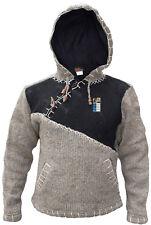 Cruzado Cremallera HECHO A MANO HIPPIE BOHO Invierno Lana Patchwork Jersey