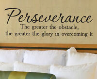 Wall Decal Sticker Quote Vinyl Art Lettering Perseverance Overcome Obstacles J56