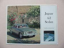 1965 Jaguar 4.2 Sedan Brochure -Near Mint