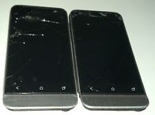 Lot of 2 HTC One V - 4GB - Grey (Cricket) Smartphone Cracked GlassBad WiFi