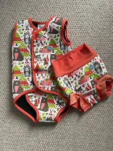 Splash About Wrap Around Swimsuit And Happy Nappy Size Approx 6-18 Months
