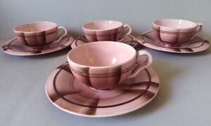 Ultrarare Eva Zeisel art deco/bauhaus 'T-series' pink tea cup, Hirschau 1931