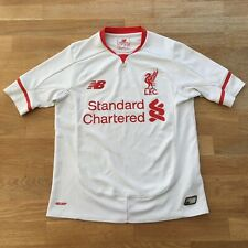 Liverpool FC Away Football Shirt 2015-16 Kid's Size 7-8 Years (122cm) White