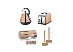SQ Pro.Toaster, Kettle,Bread bin,& Mug Tree Set or single piece Copper Colour