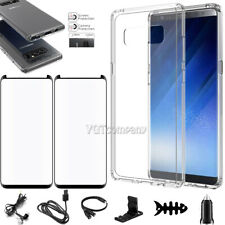 For Samsung Galaxy Note 8 Clear Case Cover With Tempered Glass Screen Protector