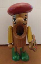 "Vintage Kouvalias ""painter"" wooden pencil case toy"