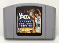 Nintendo 64 N64 Fox Sports College Hoops 99 Game Cart *Authentic/Cleaned/Tested*