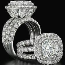 Rings Men Women 925 Silver White Topaz Sapphire Engagement Wedding Newly Size 9