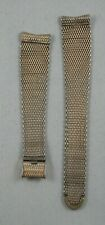 Vintage Longines Wittnauer Mesh Watch Band 1/20 10k GF -Curved End Sliding Clasp