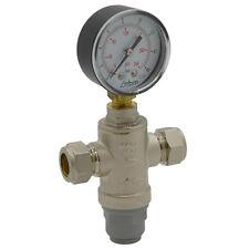 INTATEC WATER PRESSURE REDUCING VALVE WITH GAUGE 15MM REGULATING PRV