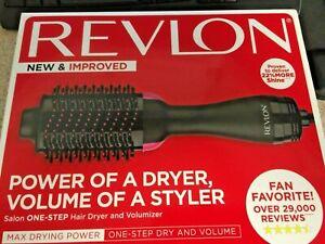 Revlon One Step Hair Dryer and Volumizer Brush Black and Pink