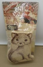 Vintage Walnut Hollow Country Forest Critter Wood Pull Toy Kit Foxy Sealed