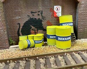 OO or O Gauge Duckhams Oil Drums (pack)