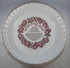 Vintage Royal China by Jeannette Glass Company Cherry Pie Plate/Dish - Americana