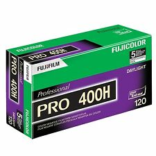 5 Rolls Fuji Color Pro 400H ISO 400 120 Color Negative Film, 2/2019 (NPH-120)