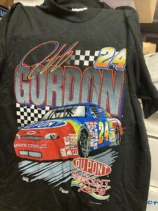 JEFF GORDON t shirt size Large black