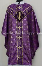 METALLIC VIOLET Gothic vestment & mass and stole set,Gothic chasuble,casula,NEW