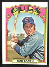 1972 Topps #555 Ron Santo Card NM-MT Chicago Cubs HOF **No Reserve!!