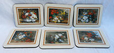 Box of Six Portmeirion Cork Back Coasters  - Floral Charm Design - BNIB