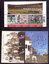 BELGIUM 2003-6 three good min sheets MUH