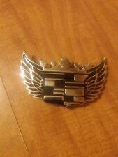 Cadillac Emblem Silver Tone and Black Belt Buckle