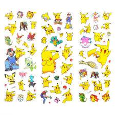 3pcs Cute Anime Pokemon Stickers Pikachu Pocket Scrapbooking Sticker Sheet Gift
