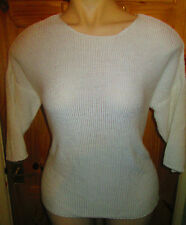 PAPAYA WHITE OVERSIZED TUNIC JUMPER+ 3/4 LENGTH SLEEVES SIZE 18/20/22/24/26/28