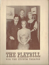 1944 Playbill The Late George Apley Leo G. Carroll Mrs. Priestly Morrison
