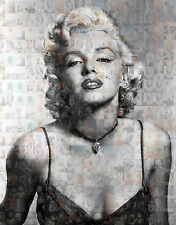 MARILYN MONROE photo mosaic cm. 30x41poster with a lot of pics