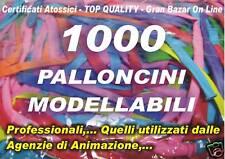 PALLONCINI MODELLABILI  MANIPOLABILI FESTE BABY COMPLEANNO 1000 Pz PURO LATTICE