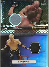 2010 Topps UFC - BEN SAUNDERS - Black Match Used Mat Relic - MMA #d 68/88
