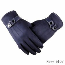 Winter Men's Leather Motorcycle Full Finger Touch Screen Warm Gloves Fashion