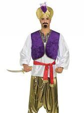 Mens Desert Prince Shirt Arabian Aladdin Bollywood Fancy Dress Costume